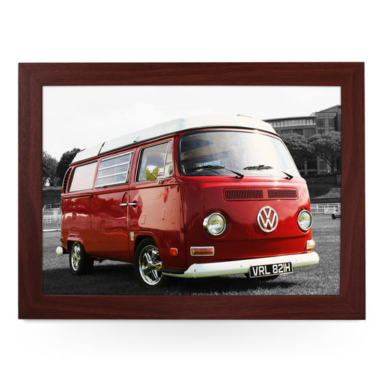 VW Camper in Red Lap Tray - L0123