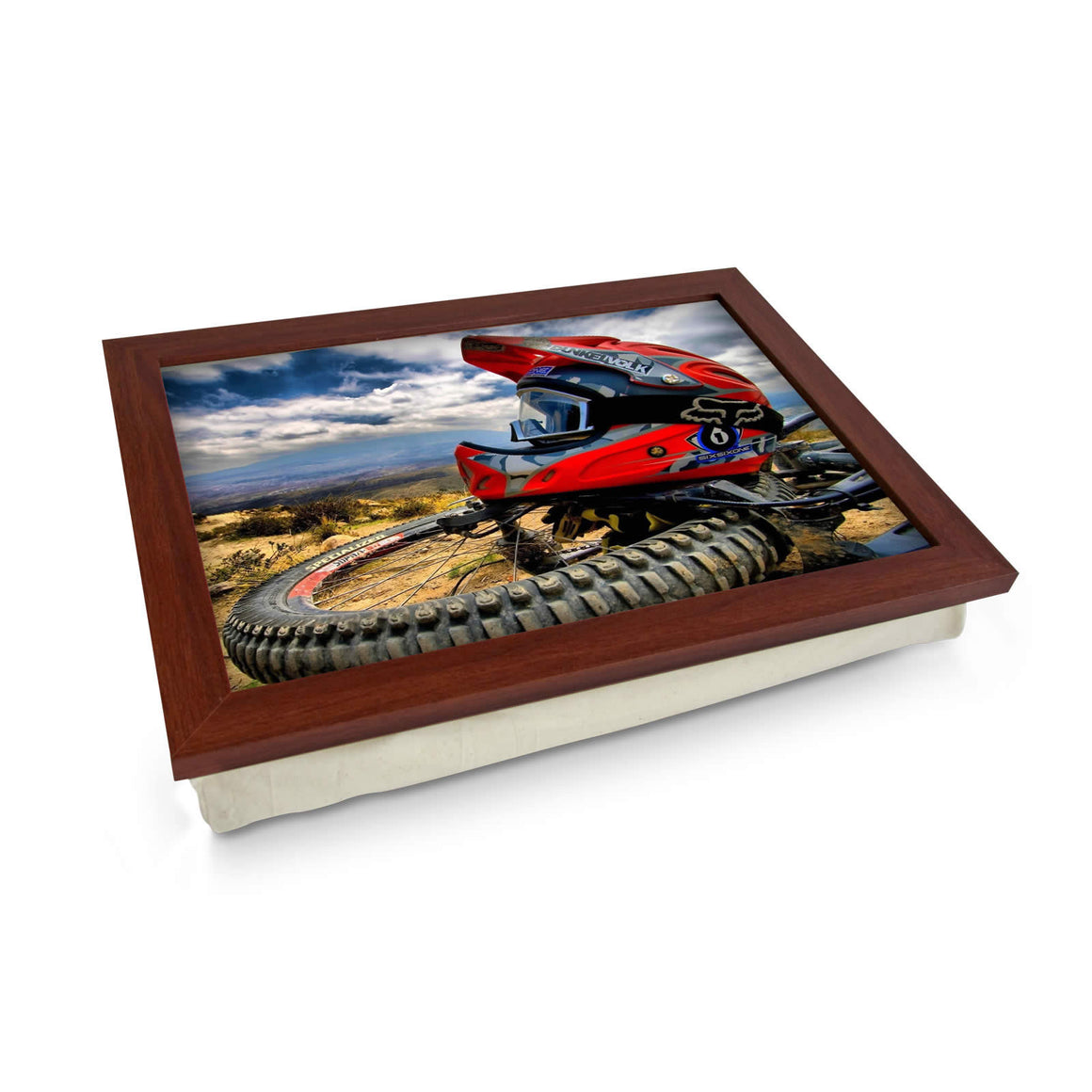 Motorcross cushioned lap tray