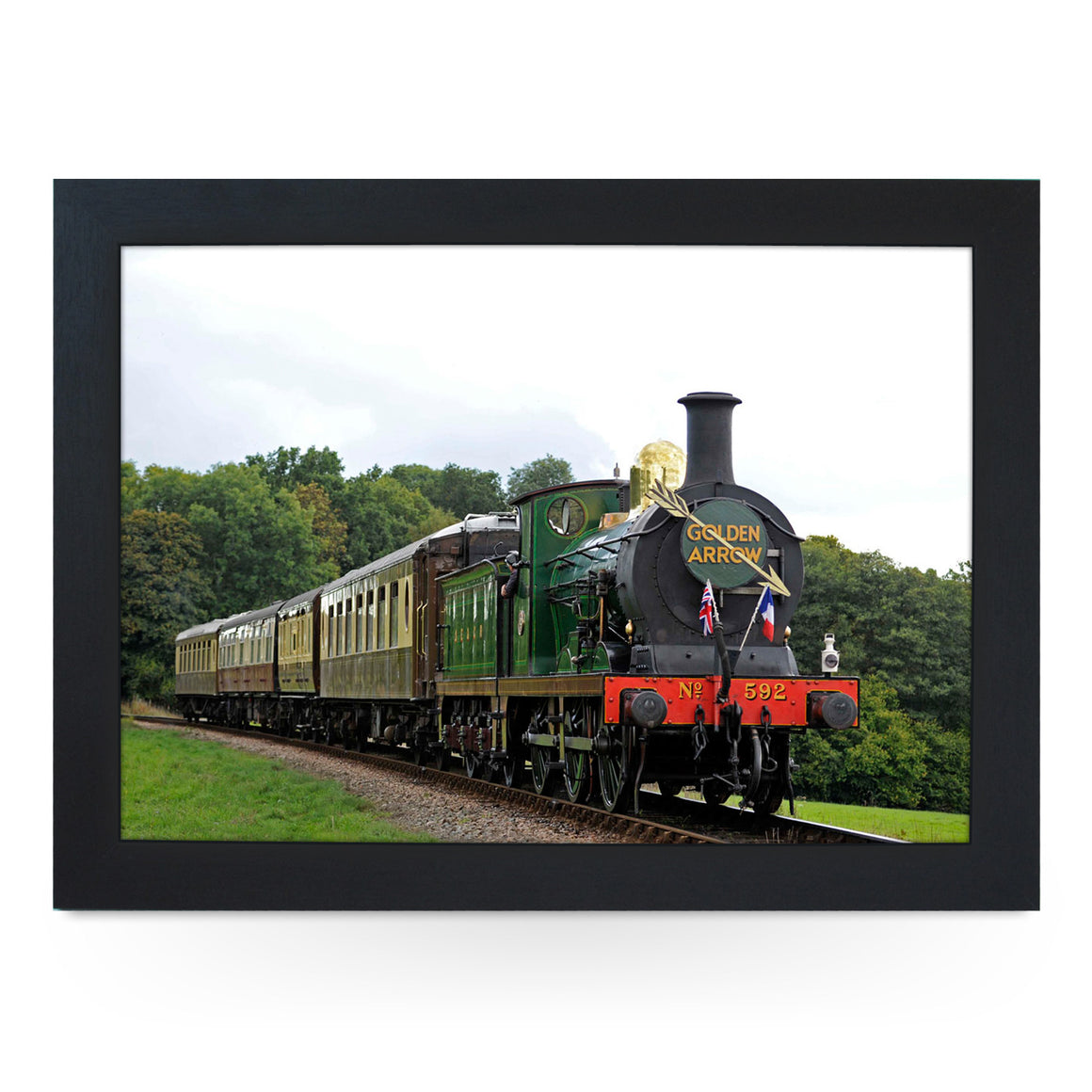 Golden Arrow Train Lap Tray - L0134