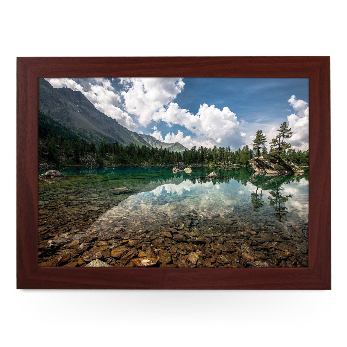 Clear Mountain Lake Lap Tray - L0148