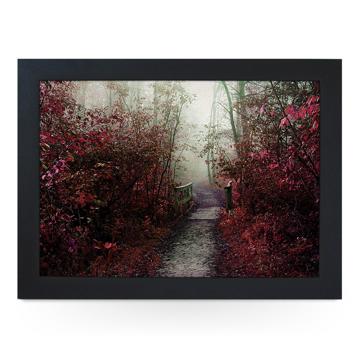 Misty Autumn Path Lap Tray - L0154