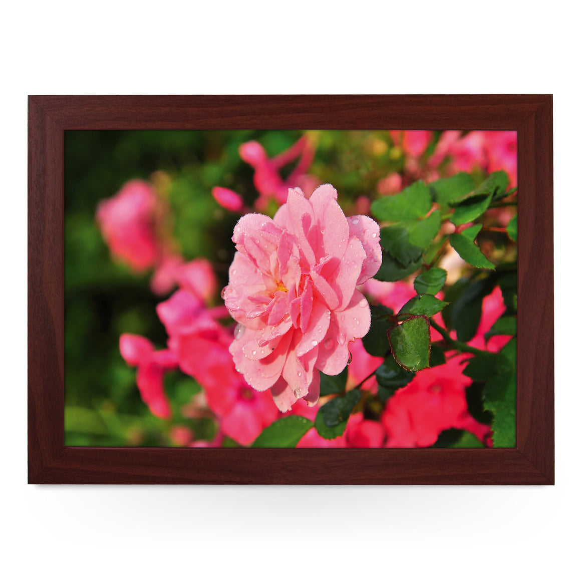 Pink Rose Flower Lap Tray - L0162