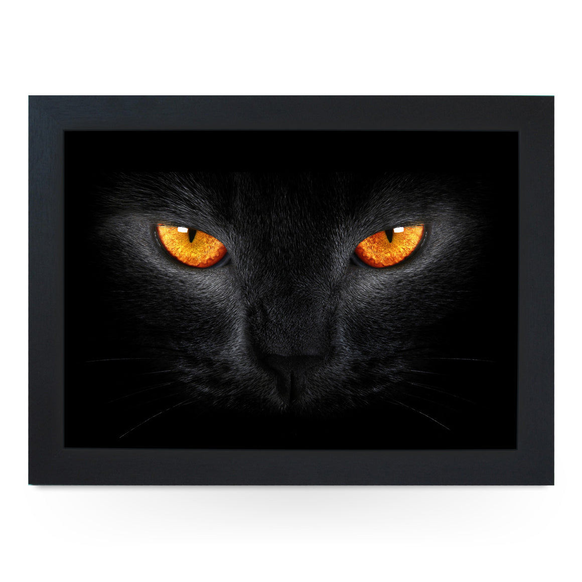 Black Cat with Orange Eyes Lap Tray - L0164