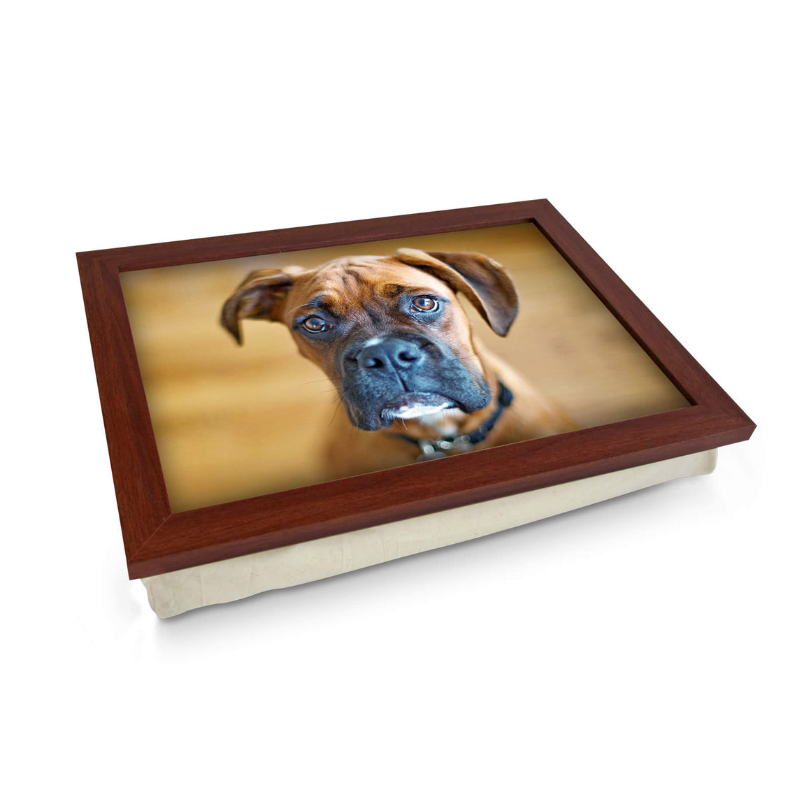 Boxer dog lap tray
