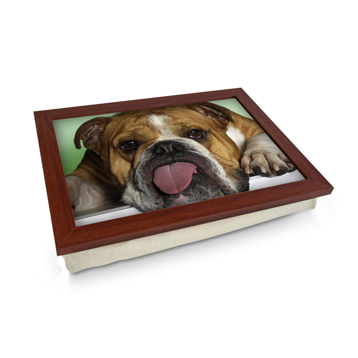 Bulldog Sticking Tongue Out Lap Tray