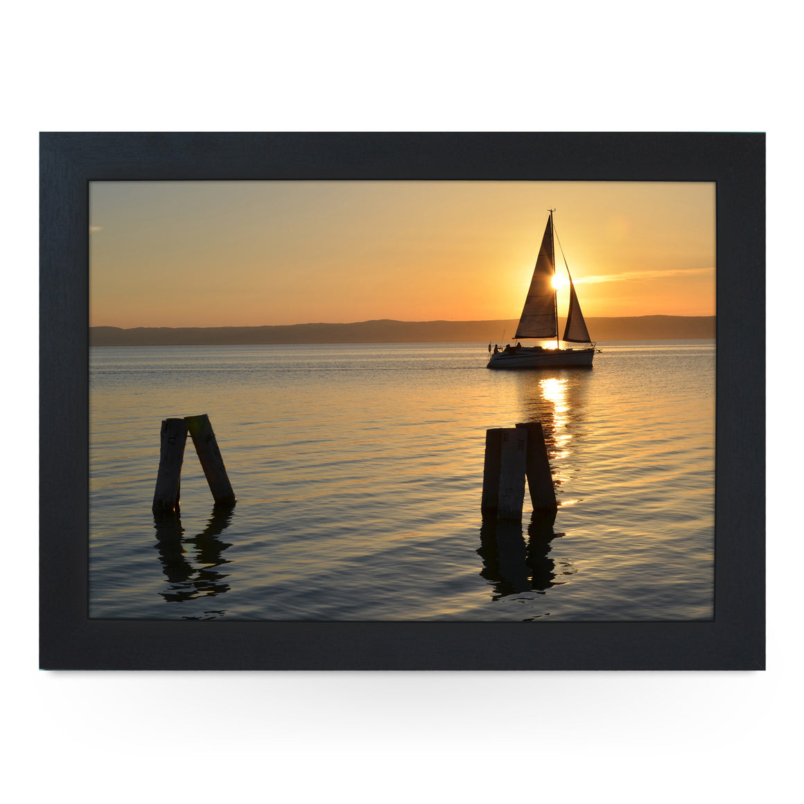 Sailing Boat at Sunset Lap Tray - L0193