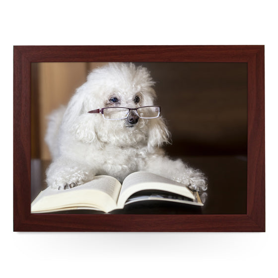 Poodle Reading a Book Lap Tray - L0198