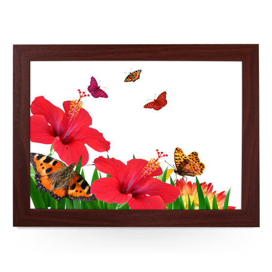 Butterflies & Flowers Lap Tray - L0212