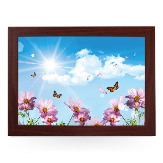 Butterflies & Cosmos Lap Tray - L0214