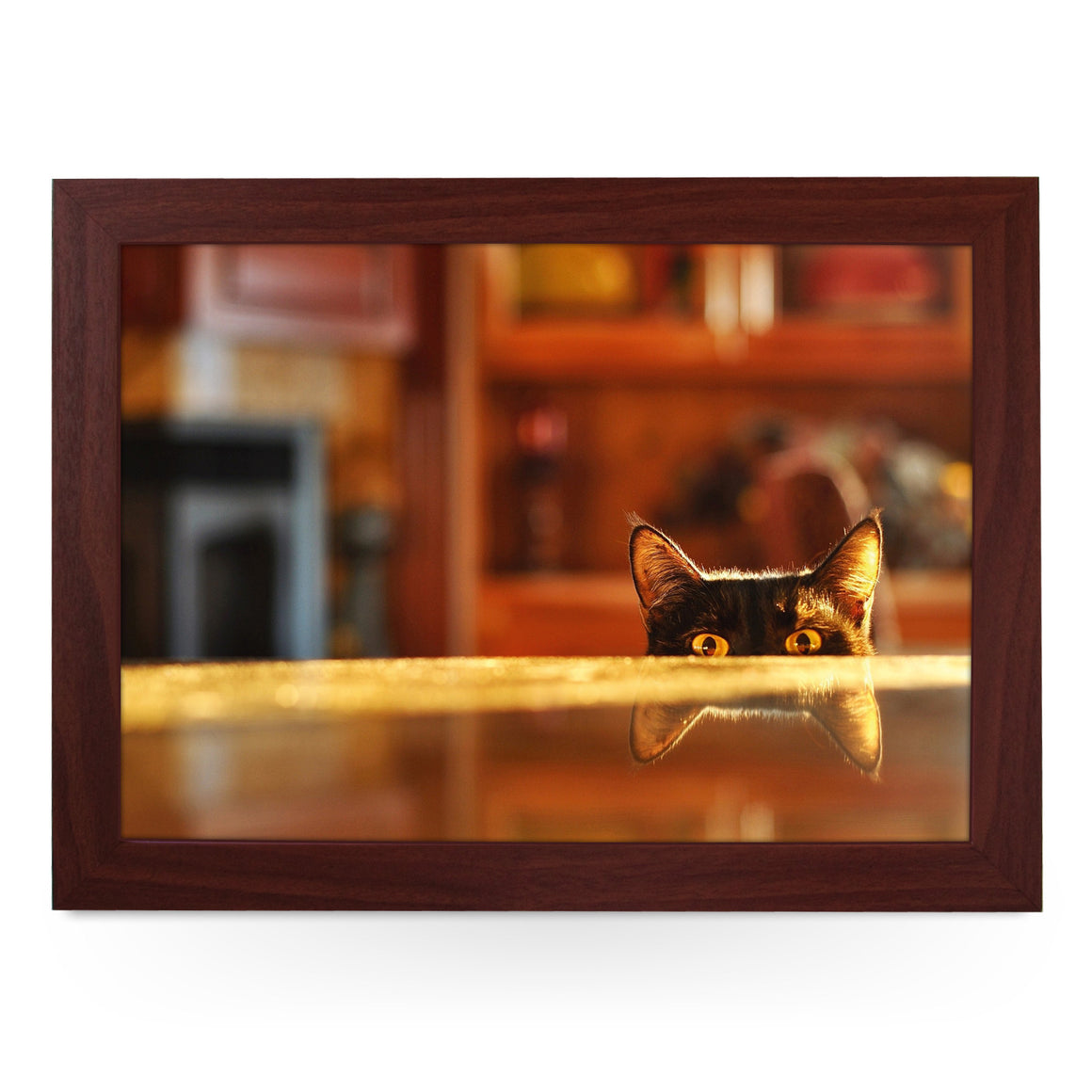 Cat Peeking Lap Tray - L0215