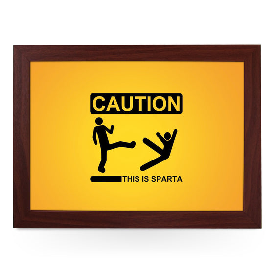 Caution This Is Sparta Lap Tray - L0216