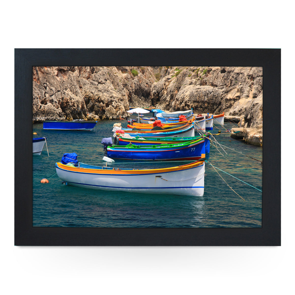 Colourful Rowing Boats Lap Tray - L0218