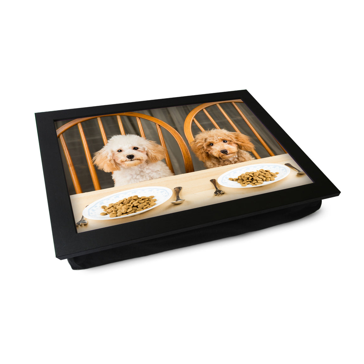 Dogs At Dinner Table Lap Tray - L0220