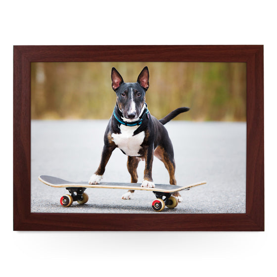 English Bull Terrier on Skateboard Lap Tray - L0222