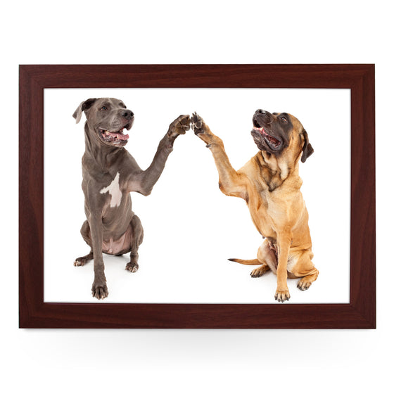 Great Dane & Mastiff Shaking Paws Lap Tray - L0225