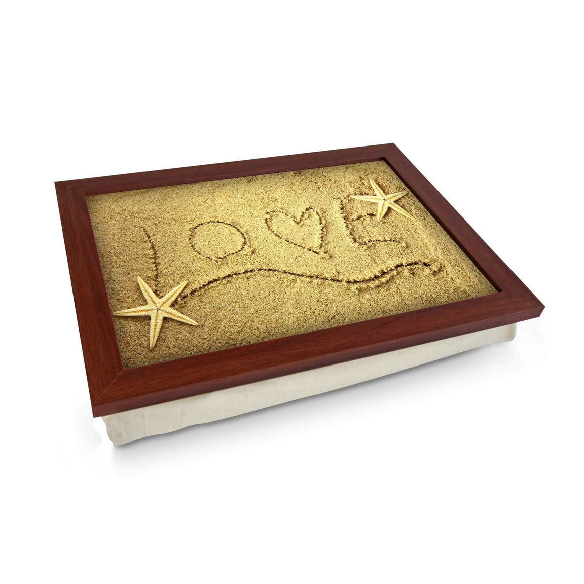 Love Written in Sand Lap Tray