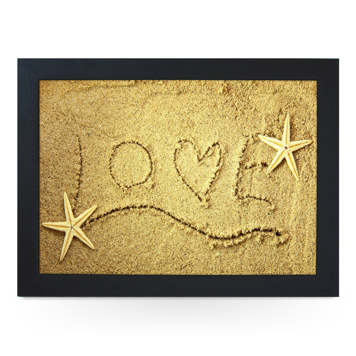 Love Written in Sand Lap Tray -L0231