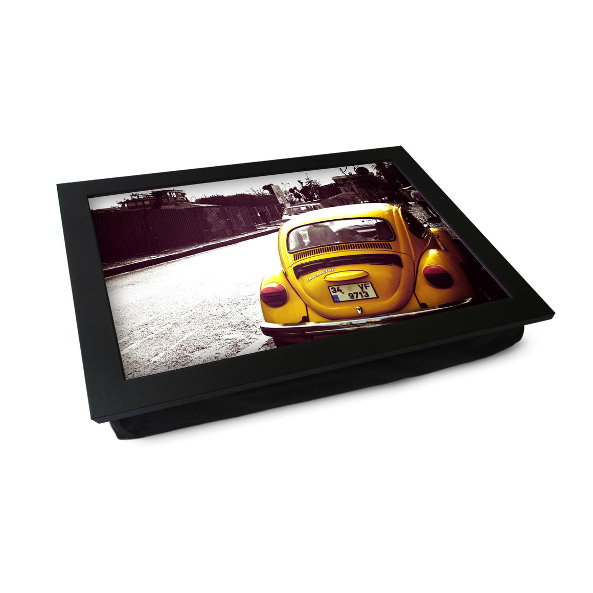 VW Beetle Yellow Lap Tray - L0236