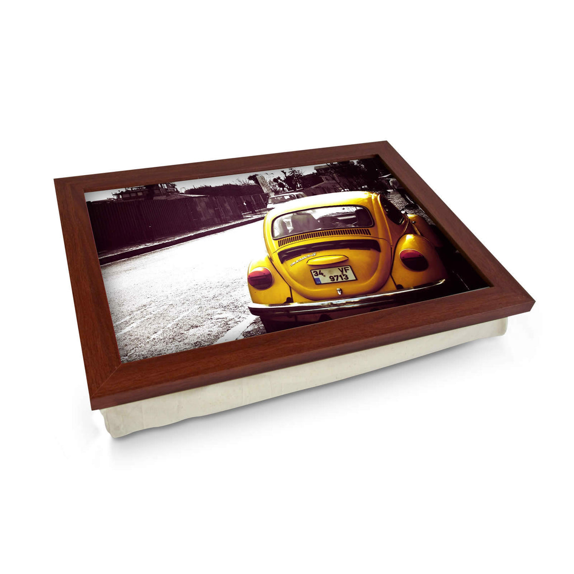 VW Beetle Yellow Lap Tray