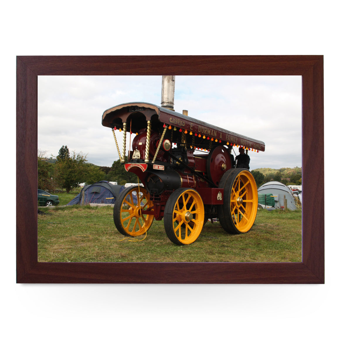 Vintage Steam Engine Lap Tray - L0318