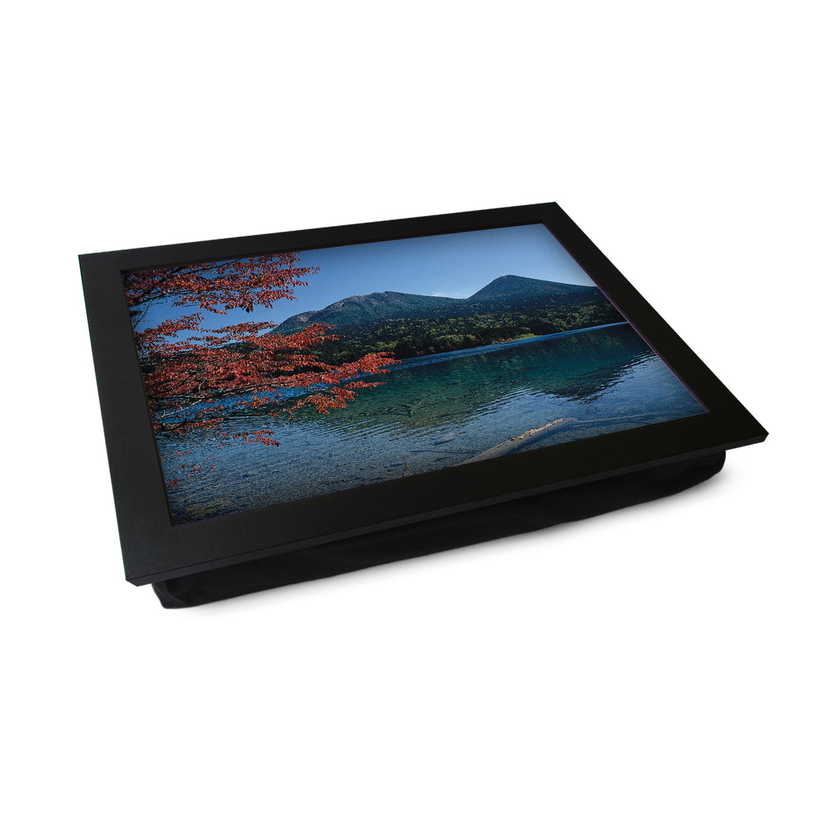 Mountain Lake With Autumn Tree Lap Tray - L0355