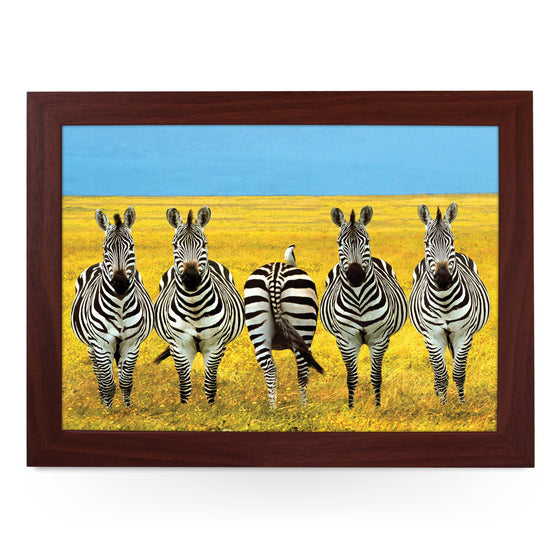 Zebras in a Field Lap Tray - L0356