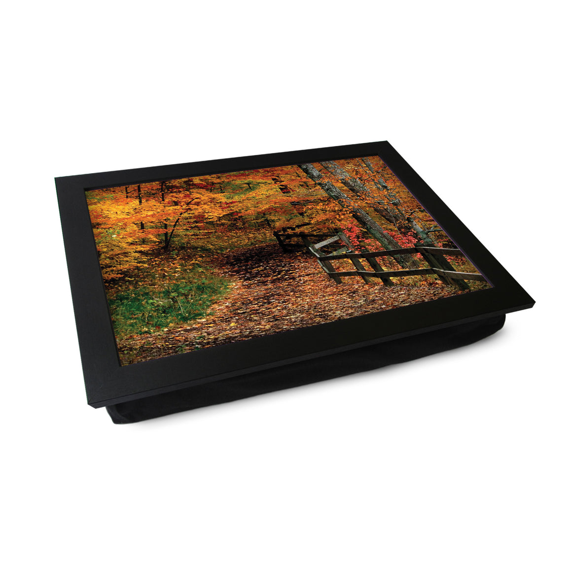 Autumn Woodland Fence Lap Tray - L0370