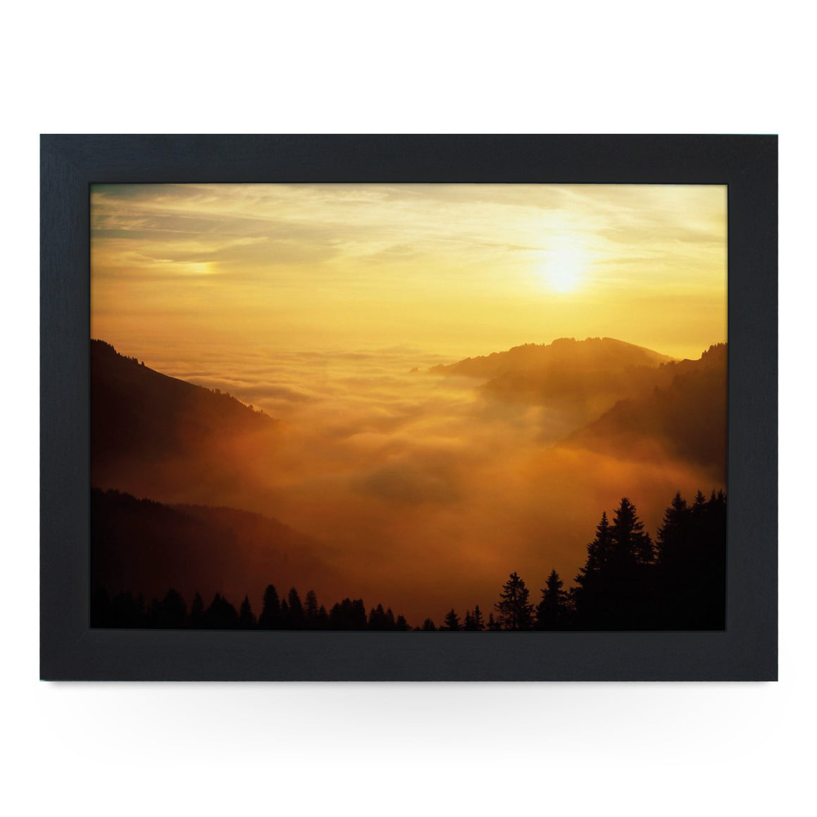 Switzerland Mountain Sunset Lap Tray - L0388