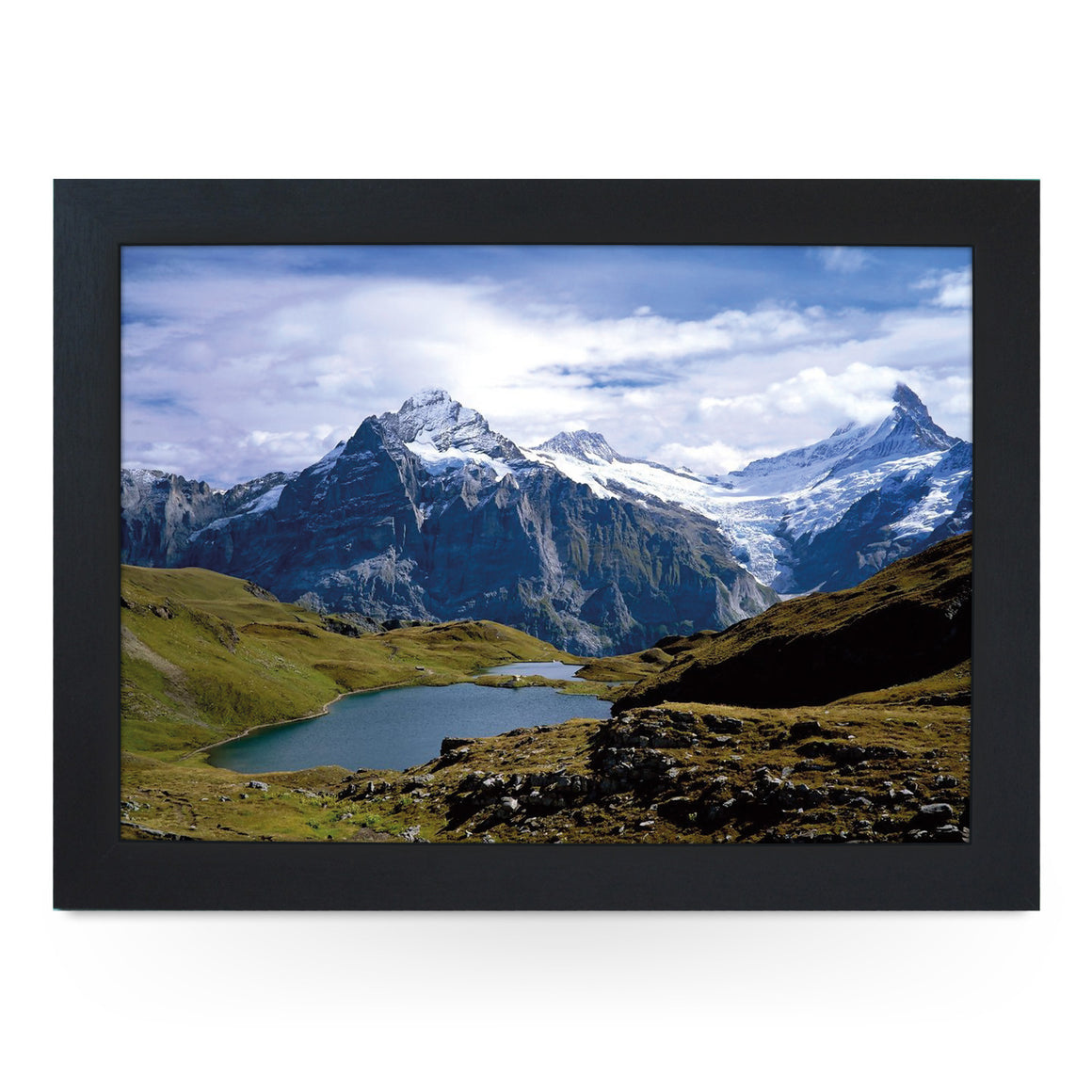 Switzerland Mountain Lake Lap Tray - L0390