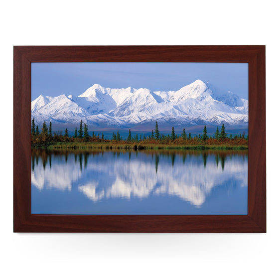 Alaska Mountains Reflected In Lake Lap Tray - L0393