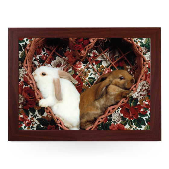 Bunnies In A Heart Lap Tray - L0399