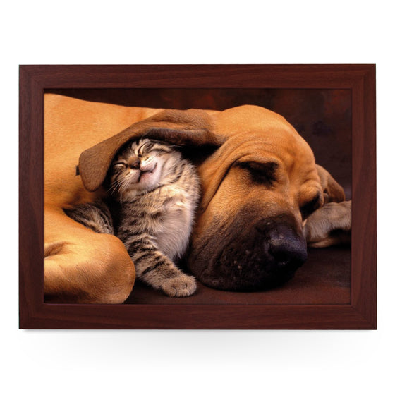 Cat & Sleeping Great Dane Dog Lap Tray - L0401