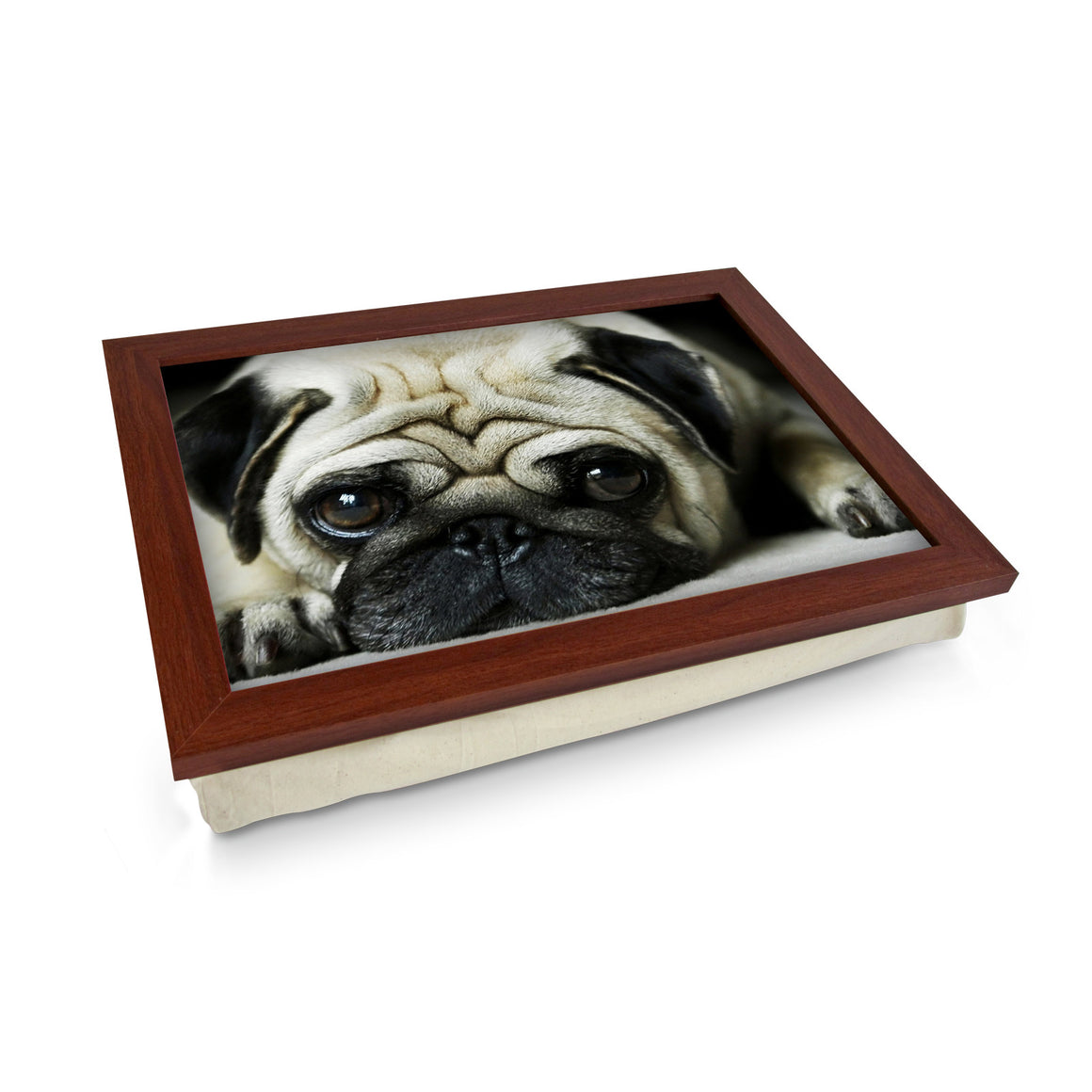 Pug Dog Laying Down Lap Tray - L0418