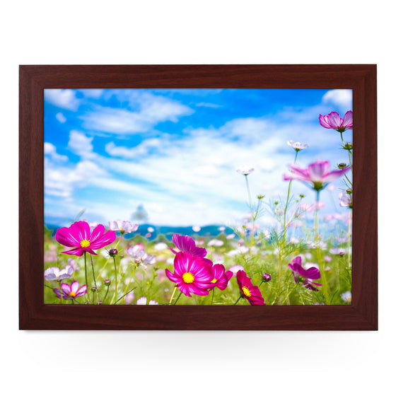 Pink Cosmos in Field Lap Tray - L0432