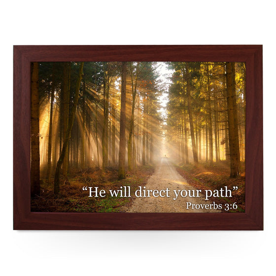 He Will Direct Your Path Lap Tray - L0437