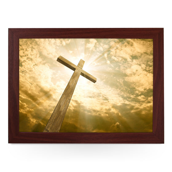 Wooden Cross Lap Tray - L0438