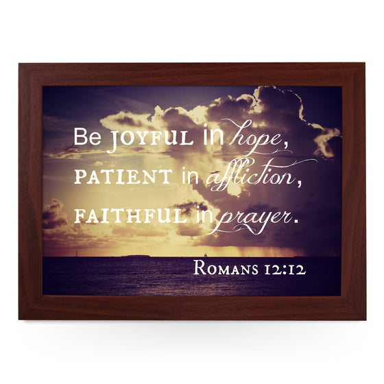 Joyful In Hope Lap Tray - L0439
