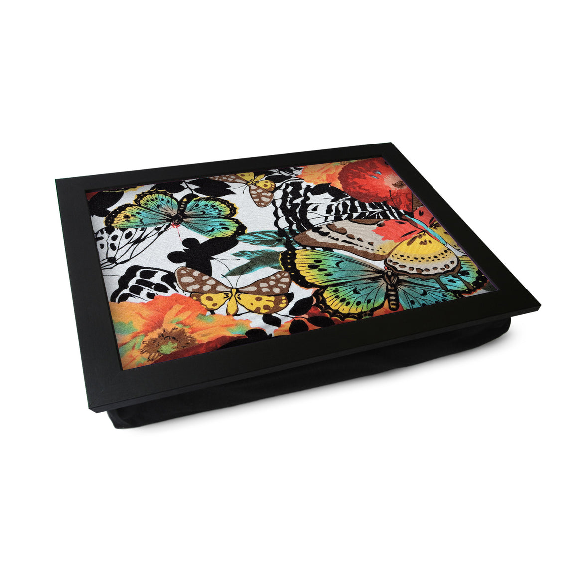 Butterfly Pattern Lap Tray - L0444
