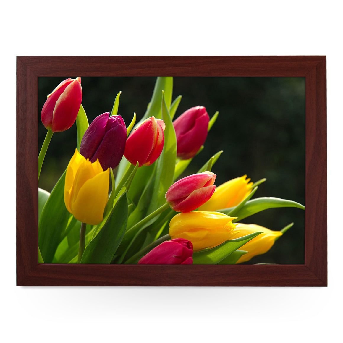 Red & Yellow Tulips Lap Tray - L0448