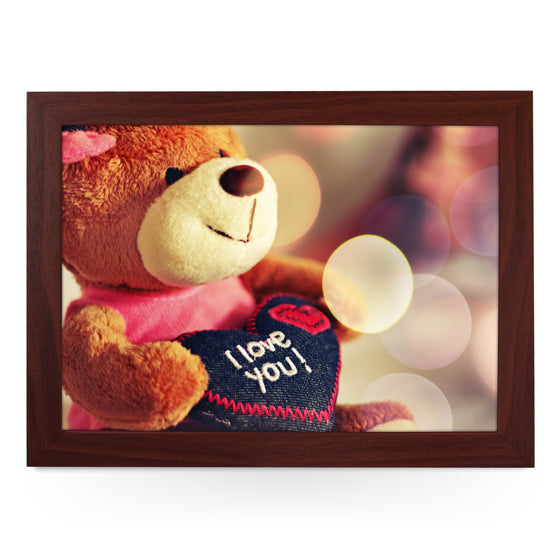 I Love You Toy Teddy Bear Lap Tray - L0452