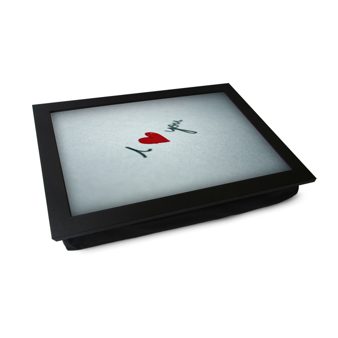 I Heart You Written On Paper Lap Tray - L0454