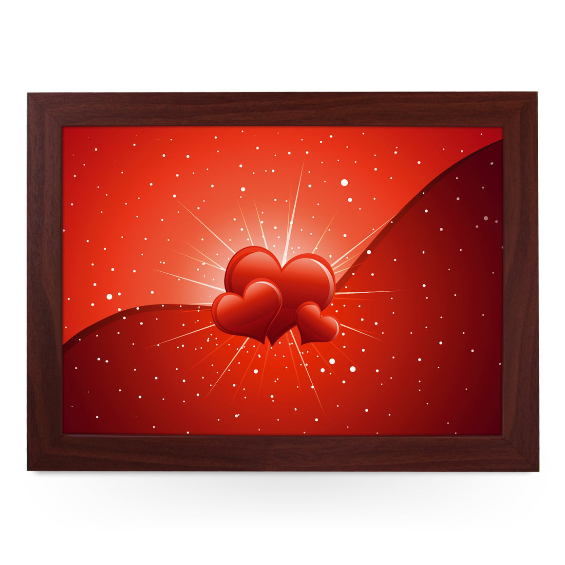 Red Love Hearts Lap Tray - L0455