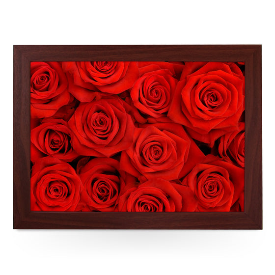 Red Roses Lap Tray - L0460