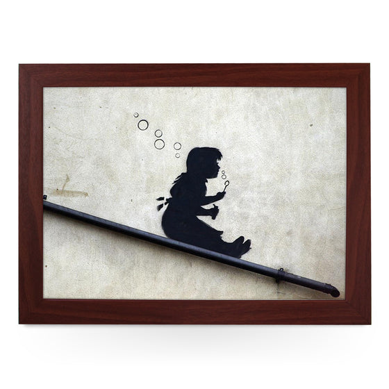 Banksy Bubble Girl Lap Tray - L0469
