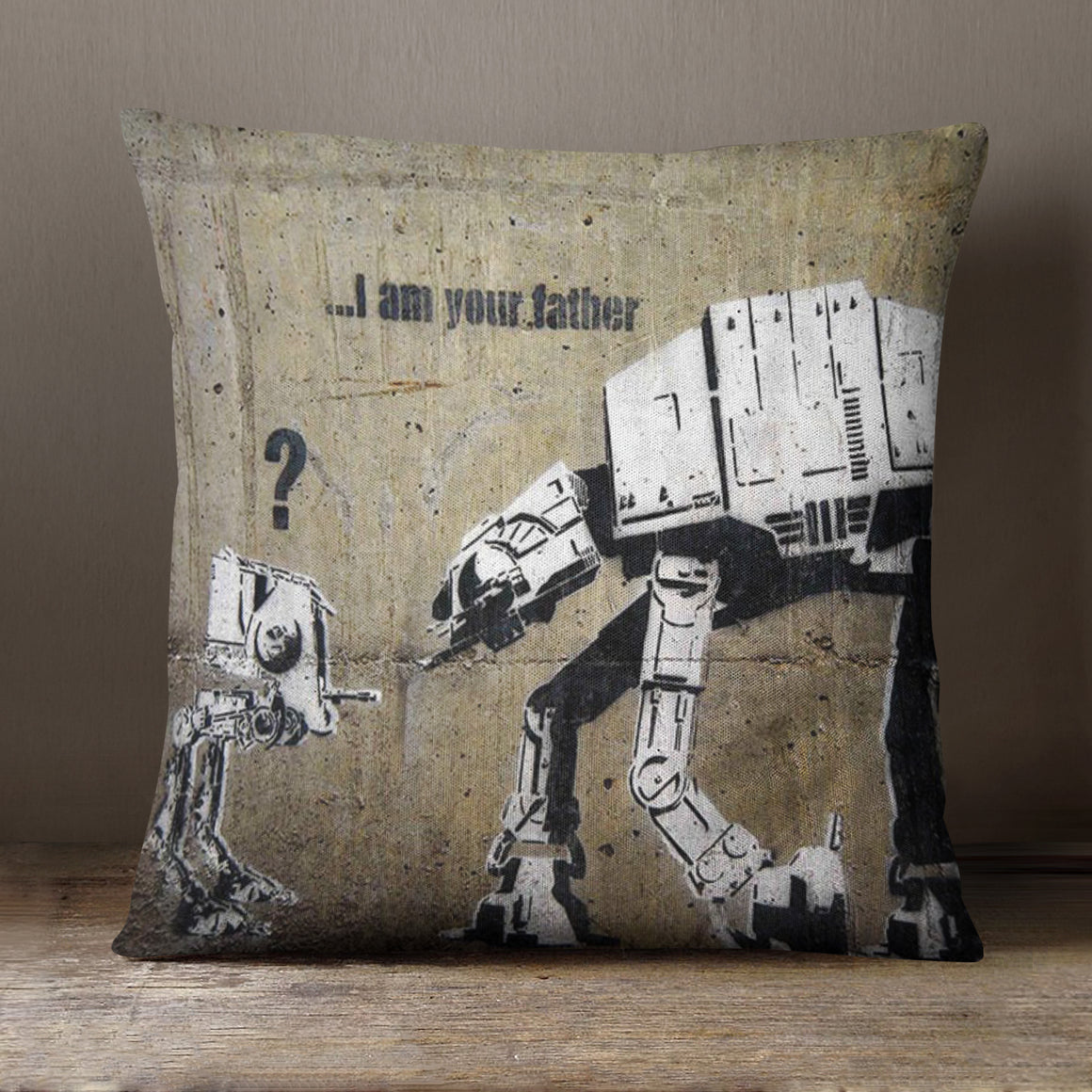 Banksy I Am Your Father - 40 x 40 cm Cushion (L0472)