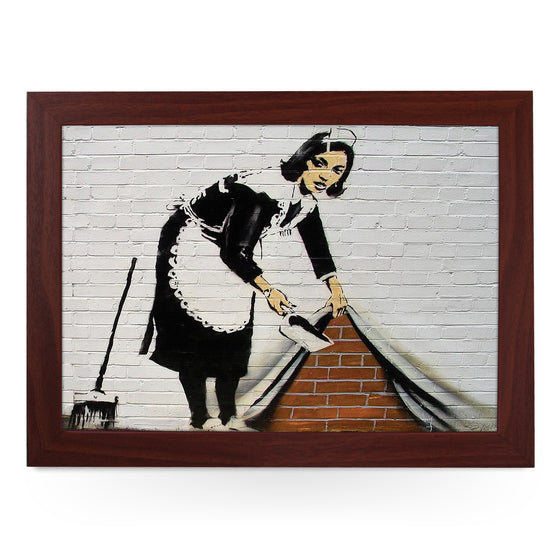 Banksy Sweeping It Under The Carpet Maid Lap Tray - L0475