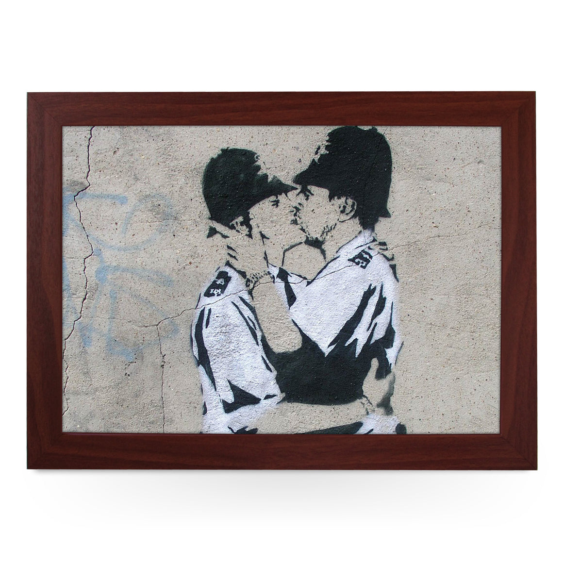 Banksy Kissing Coppers Lap Tray - L0476