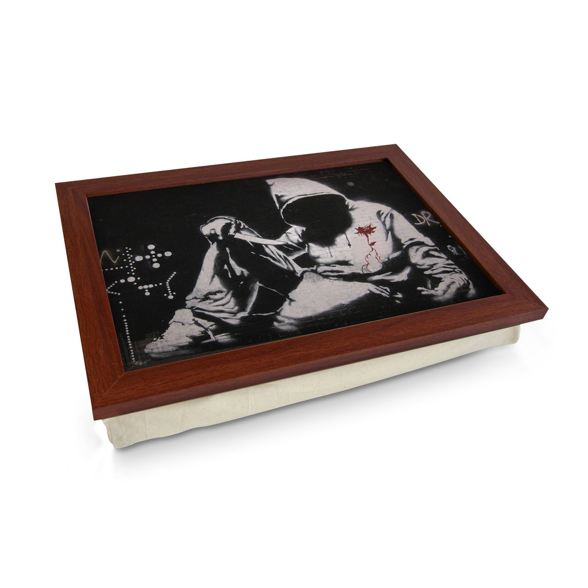 Banksy Hooded Man With Knife Lap Tray - L0477