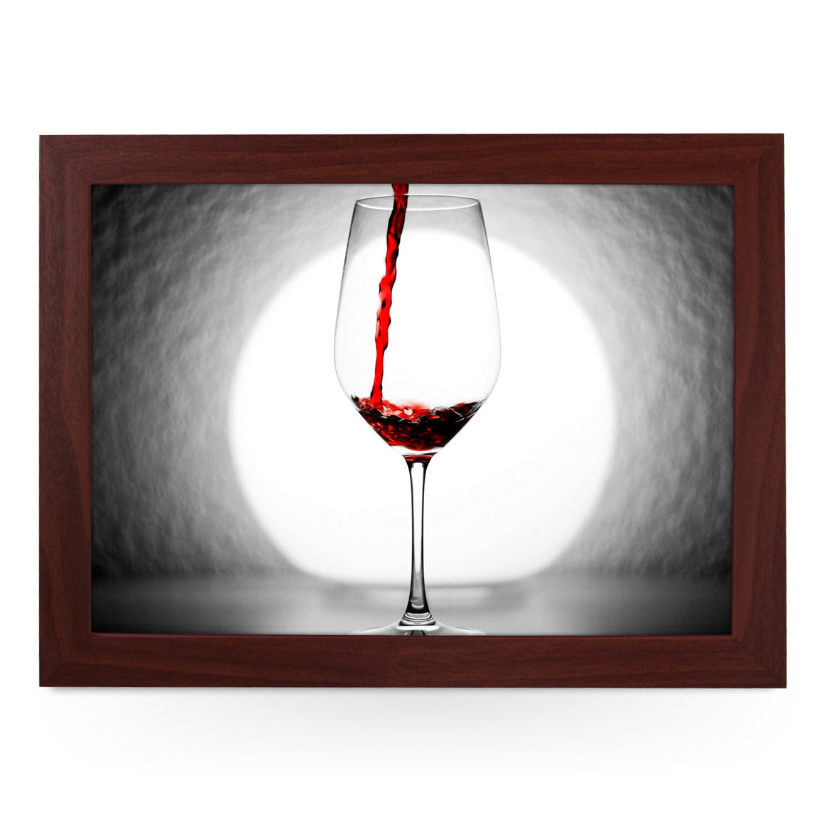 Red Wine Glass Lap Tray - L0479