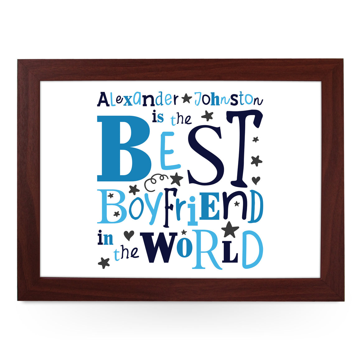 Personalised Best Boyfriend In The World Lap Tray - L0481